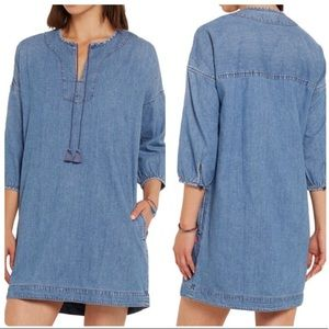 Madewell Chambray Denim Artiste Tussle Tunic Dress